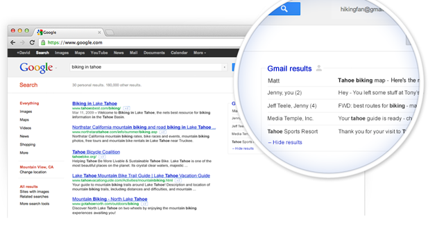 Gmail results