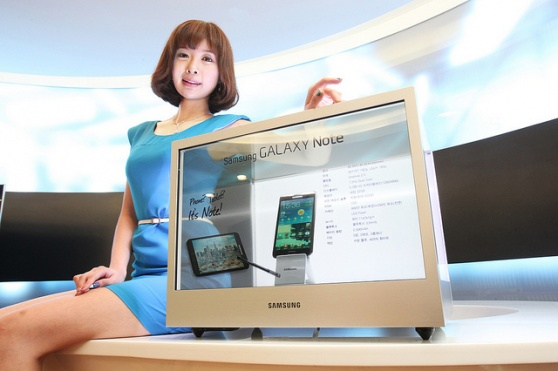 Display transparente Samsung