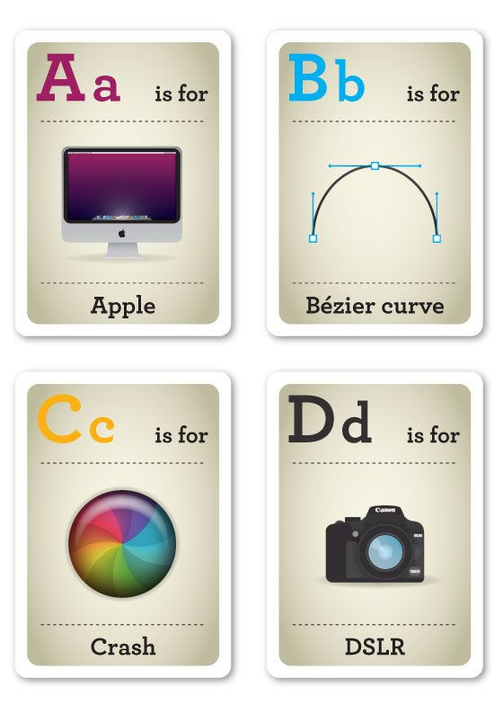 Hipster Flash Cards A-D