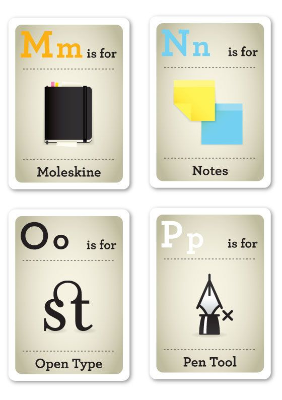 Hipster Flash Cards M-P