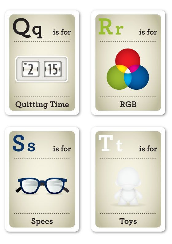 Hipster Flash Cards Q-T