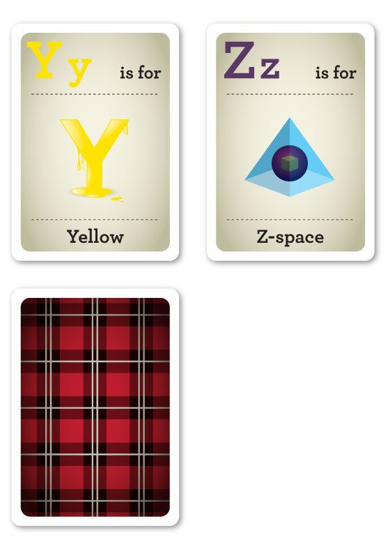 Hipster Flash Cards Y-Z