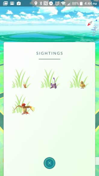 Pokemon Go Sightings