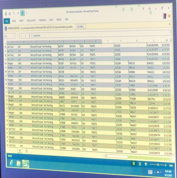 Excel no Office 2013 RT