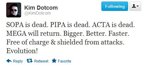 Kim Dotcom - SOPA is dead